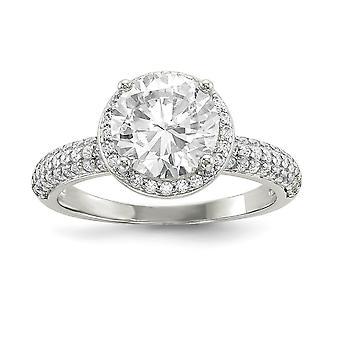 925 Sterling Silver CZ Cubic Zirconia Simulerad Diamond Pave Ring Smycken Gåvor för kvinnor - Ring Storlek: 6 till 8