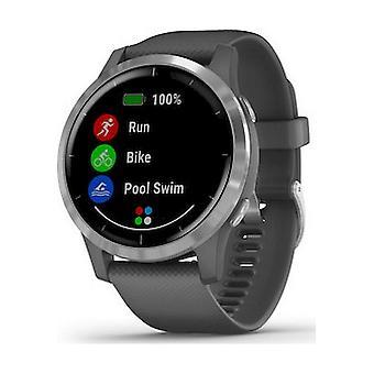 Garmin - Smartwatch - vivoactive 4 Mørkegrå Sølv - 010-02174-02