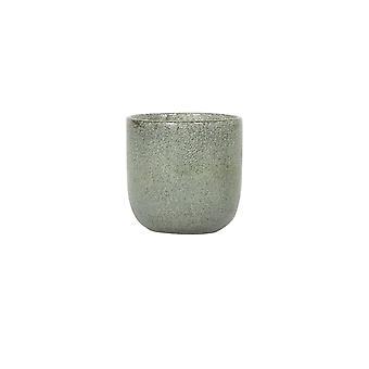 Licht- en levende theelicht 10,5x11cm - Tathra Glasgroen