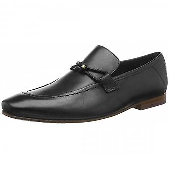 Ted Baker Siblal Leather Loafers Black