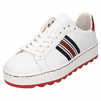 Rieker csipke fel vaskos oktatók flatform cipő N4622-81