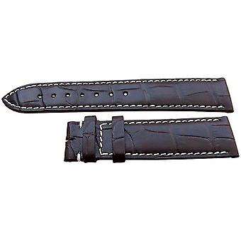 Authentic longines watch strap 20mm brown alligator