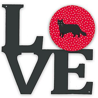 Black Chantilly Tiffany Cat Love Metal Wall Artwork LOVE