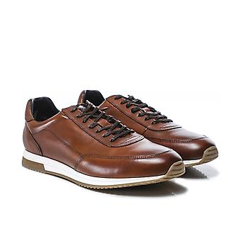 Loake Burnished Leather Bannister Trainers