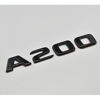 Gloss Black A200 Flat Mercedes Benz Car Model Numbers Letters Badge Emblem For A Class W176 W177 AMG