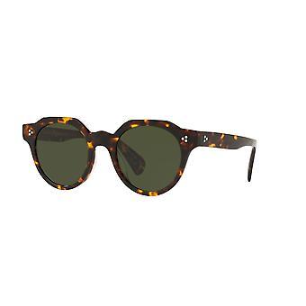 أوليفر الشعوب إرفين OV5378SU 165471 Torroise الظلام / النظارات الشمسية الخضراء نابضة بالحياة