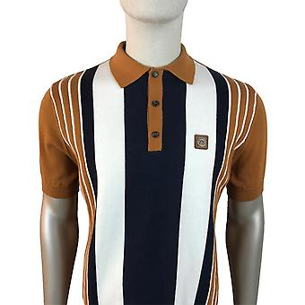 Trojan Multi Stripe Front Fine Gauge - Golden Tan