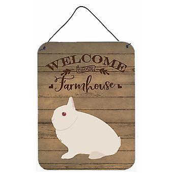 Hermelin Rabbit Welcome Wall or Door Hanging Prints