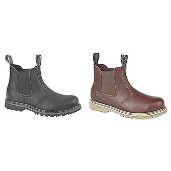 Woodland Mens Tumbled Leather Gusset Chelsea Boots