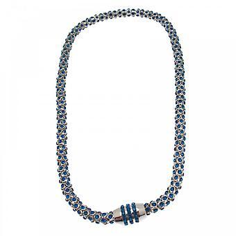 Nour London Magnetic Diamante Mesh Effect Necklace