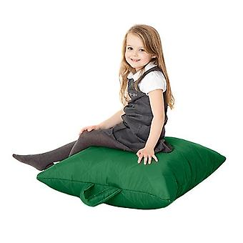 Fun!ture Kinder gesteppte Platte Bean Bag | Outdoor Indoor Wohnzimmer Kinder Platz Sitzsack Sitzgelegenheiten | Wasserdicht | Lebendige Play Kinder Farbe Sitz | Hohe Qualität & bequem (Grün)