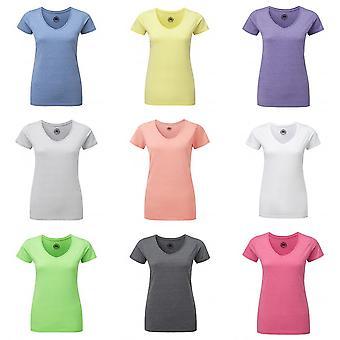 Russell Womens/dames v-hals HD korte T-Shirt van de koker