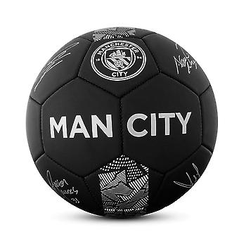 Manchester City Phantom Signature Team Merchandise Football Soccer Ball Black