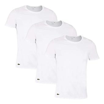 Lacoste Essentials Cotton 3-Pack Crew Neck T-Shirt, White, XX-Large