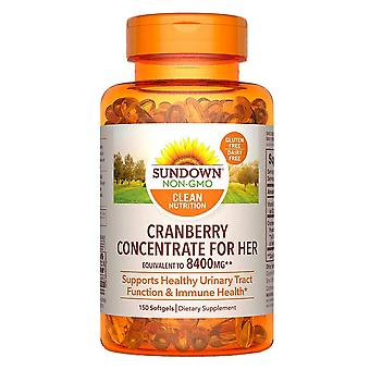 Sundown naturals cranberry with d3, softgels, 150 ea