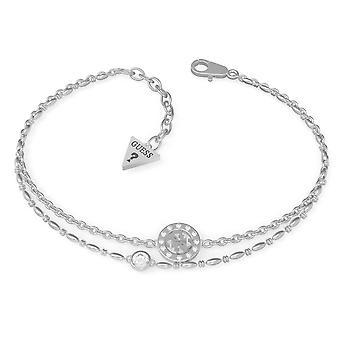 Guess UBB79032-L Frauen's Silber Ton Miniatur 4G Armband