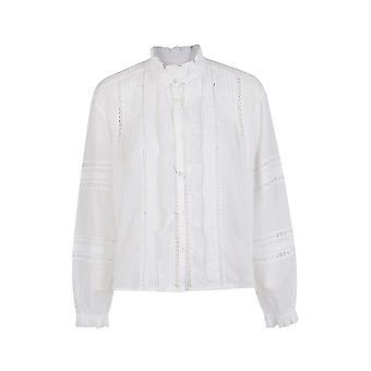 Isabel Marant ÉToile Ch023620p063e20wh Women's White Cotton Blouse
