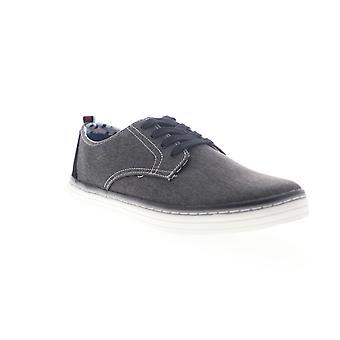 Ben Sherman Bulldog Derby Mens Black Canvas Lifestyle Sneakers Shoes