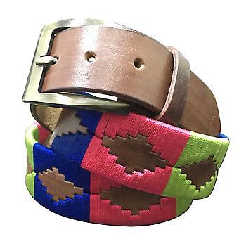 carlos diaz unisex  brown leather  polo belt cdupb71