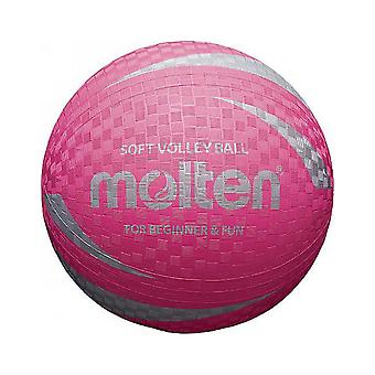 Molten S2V1250-P Soft Touch Non Slip & Non Sting Rubber Pink Volleyball