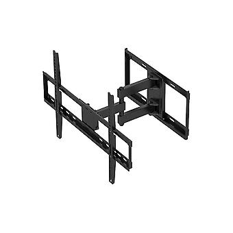 Full Motion Dual Stud Single Arm Wall Mount - Black For Large Up to 177.8cm TVs Displays, Weighing Up to 35 Kgs., 200x200 to 600x400 - Titan Series by Monoprice