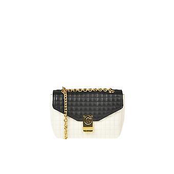 Céline Ezgl076042 Women's White/black Leather Shoulder Bag