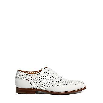 Church's De01499pdf0abk Women's White Leather Lace-up Shoes