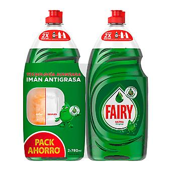 Manual liquid dishwasher Fairy Ultra Original 780 ml + 780 ml (Pack of 2)