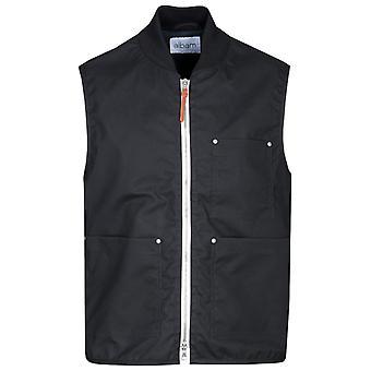 Albam Waxed Black Overhaul Vest
