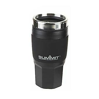 Top Geïsoleerde Drankjes Mok Camping Travel Cup Rubber 400ml - 1 Unit Black Mug