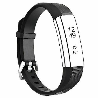 """Replacement Strap Silicone Band Bracelet for Fitbit Ace Kids / Alta / Alta HR[Small Fits Wrist 5.5"""" - 6.9"""",Black]"""
