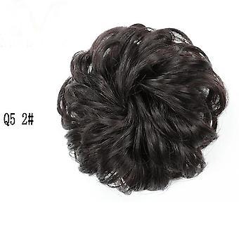 مجعد Scrunchie Chignon مع الشريط المطاطي - الاصطناعية التفاف حلقة الشعر على - ذيل الحصان كعكة فوضوي