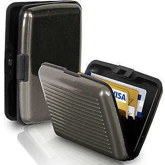 Portemonnee / kaarthouder met RFID-bescherming (Grijs)