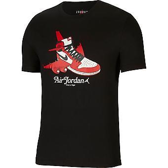 Nike Jordan Graphic Crew Tee CN3596010 uniwersalny przez cały rok męski t-shirt