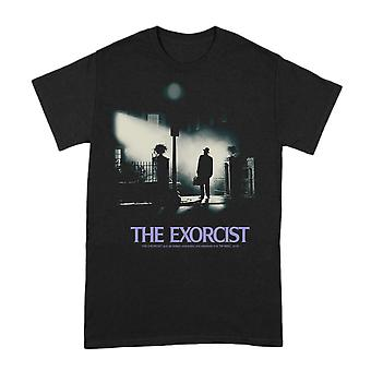 Men's The Exorcist Poster Black Crew Neck T-Shirt
