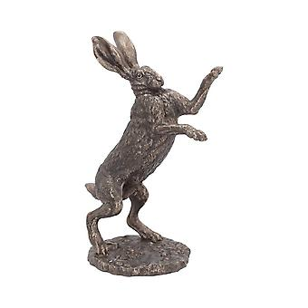 Boxing Hare - Andrew Bill Country Art Collection Bronzed Sculpture 28.5cm Fight