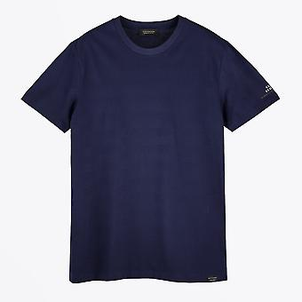 Scotch & Soda  - Stripe Crew Neck Tee - Navy
