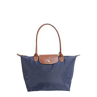Longchamp 2605089556 Women's Blue Nylon Shoulder Bag