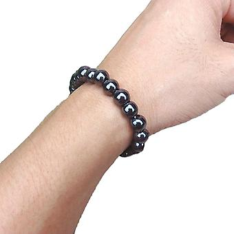 Unisex Luxury Slimming Bracelet- Weight Loss Round Black Stone Magnetic Therapy Health Care