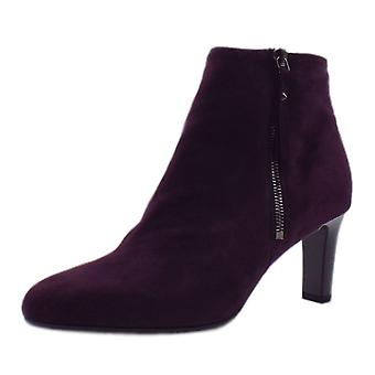 Peter Kaiser Marian Fashion Ankle Boot In Wine Suede