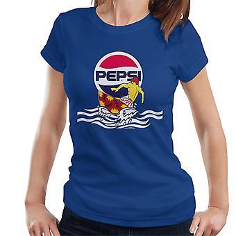 Pepsi Sonnenuntergang Surfer Damen T-Shirt