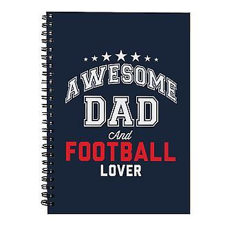 Awesome pappa og fotball elsker spiral notatbok