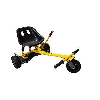 SILI® Off Road Suspension Kart for 2 Wheel Self Balance Scooter, Improved Design with Suspension Under Seat - YELLOW