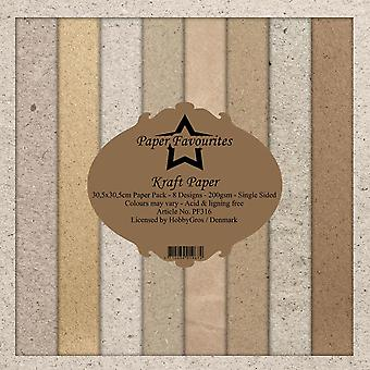 Dixi Craft Kraft Papers 12x12 Inch Paper Pack