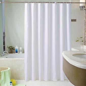 Cortinas de chuveiro sólidos brancos à prova d'água para banheiro de banho