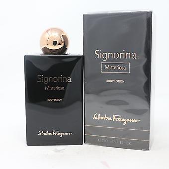 Salvatore Ferragamo Signorina Misteriosa Body Lotion 6.7oz/200ml Uusi Box