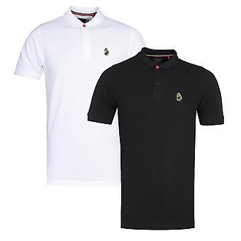 Luke 1977 Williams Black & White Polo Shirt Two Pack