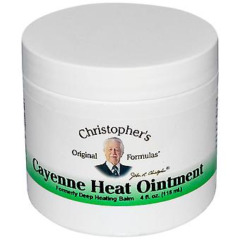 Christopher's Original Formulas, Cayenne Heat Ointment, 4 fl oz (118 ml)
