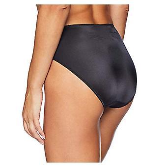 Brand - Arabella Women's Standard Hi Leg Lace Detail Panty, 3 Pack, Bl...