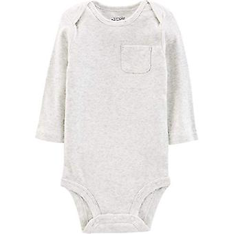 Simple Joys by Carter's Baby 5-Pack Neutral Long-Sleeve Bodysuit, Grey/Blue S...